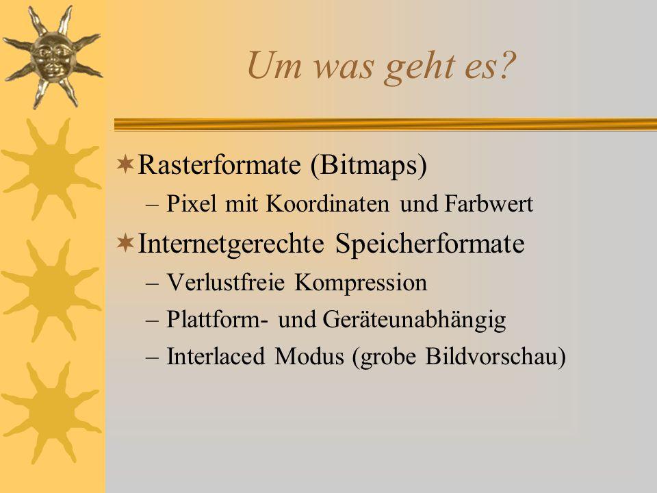 Um was geht es Rasterformate (Bitmaps)