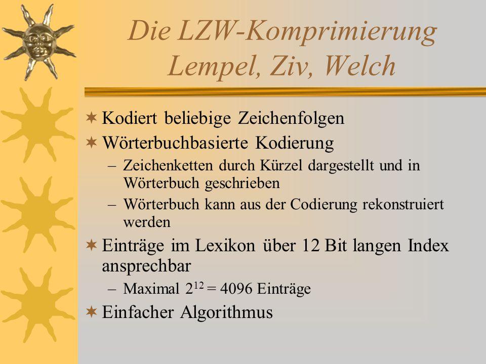 Die LZW-Komprimierung Lempel, Ziv, Welch