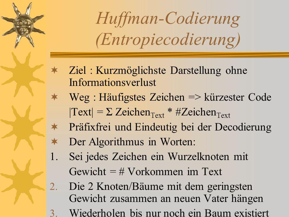 Huffman-Codierung (Entropiecodierung)