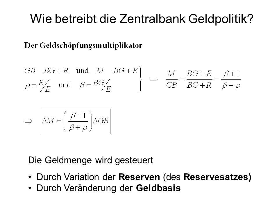 Wie betreibt die Zentralbank Geldpolitik