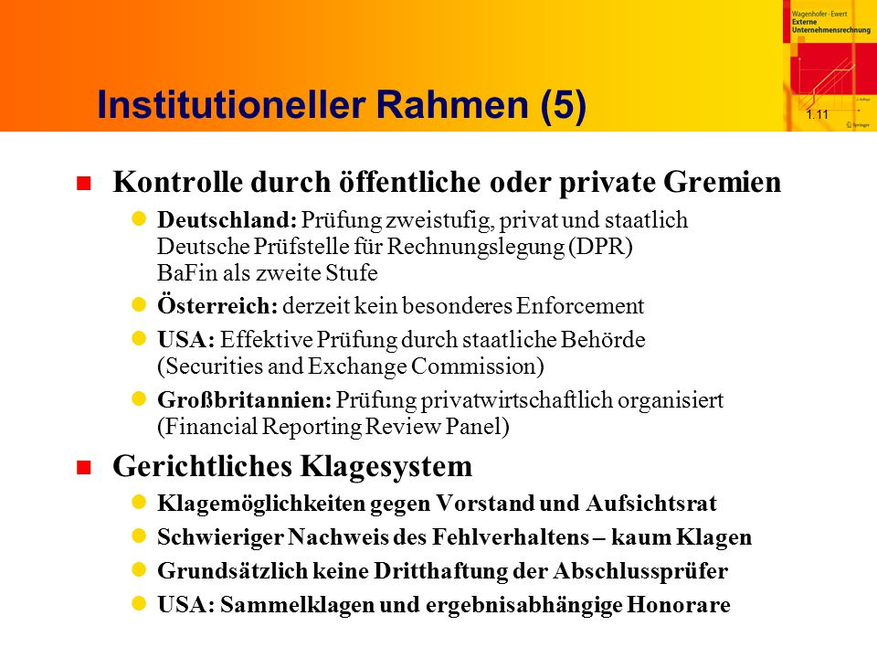 Institutioneller Rahmen (5)