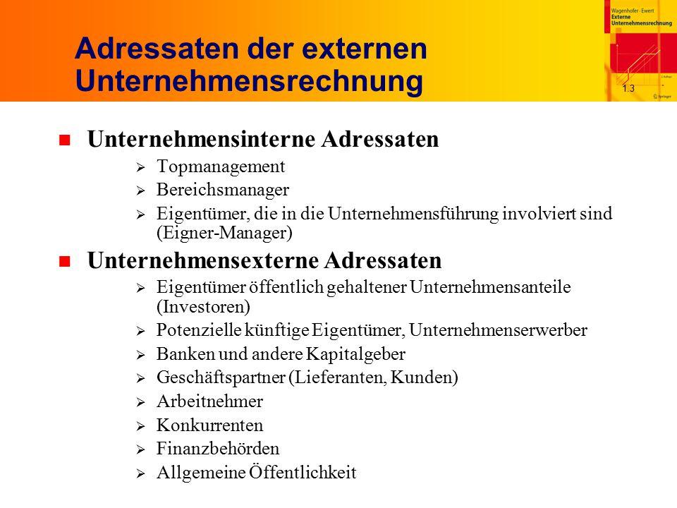 Adressaten der externen Unternehmensrechnung