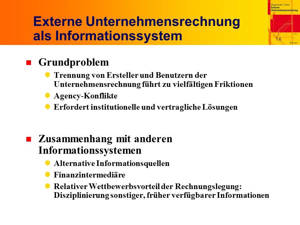 Externe Unternehmensrechnung als Informationssystem