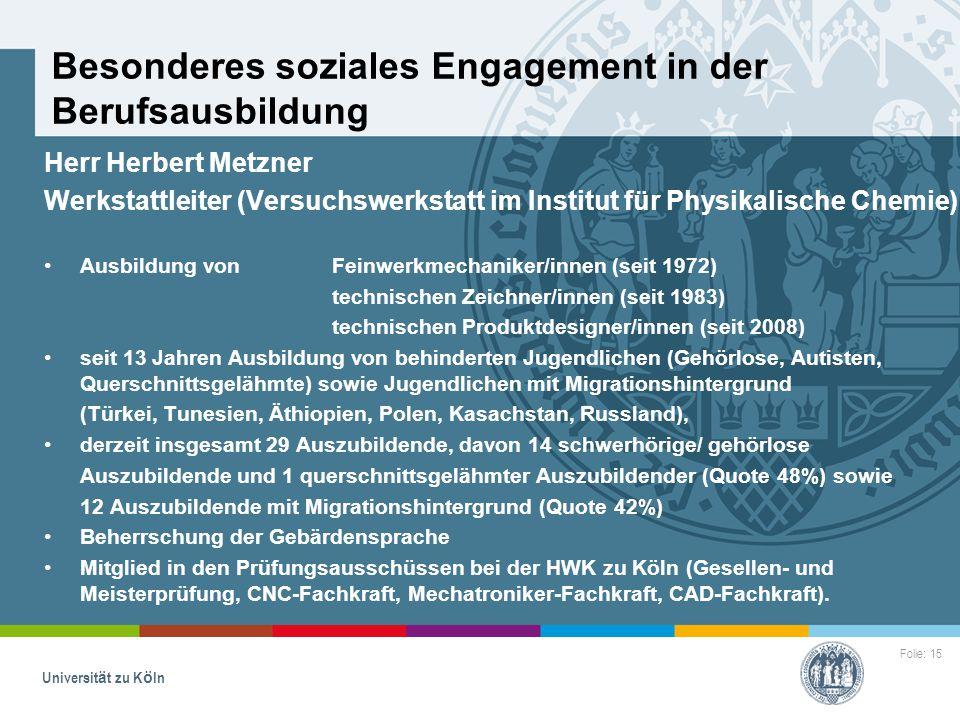Besonderes soziales Engagement in der Berufsausbildung