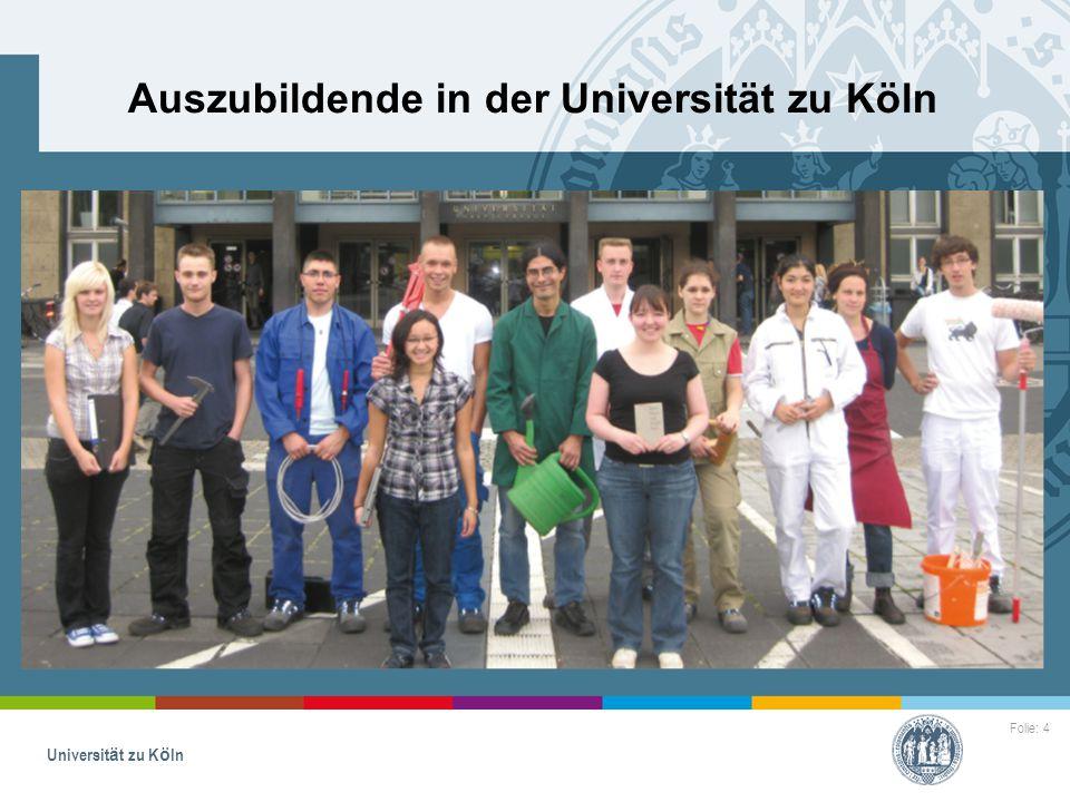 Auszubildende in der Universität zu Köln