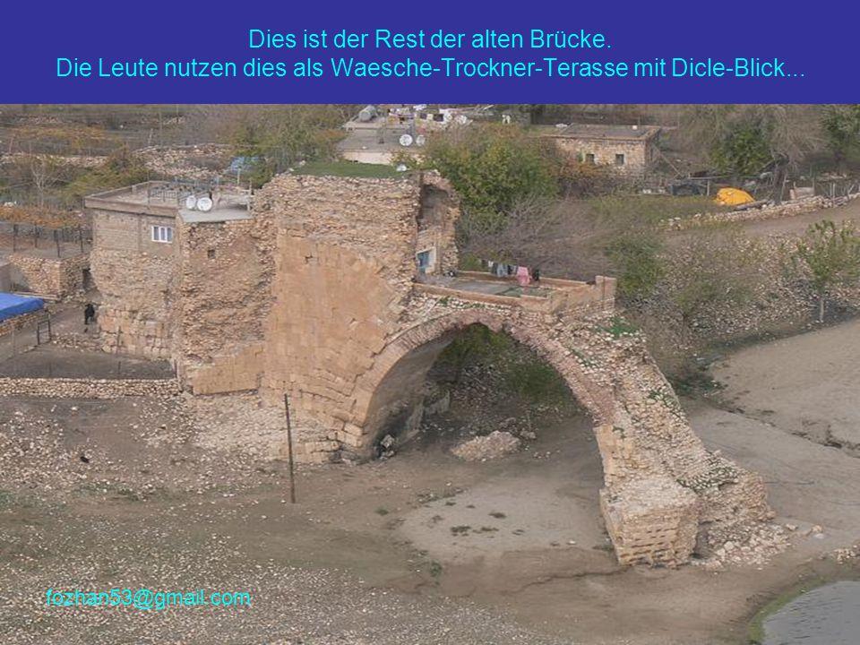 Dies ist der Rest der alten Brücke