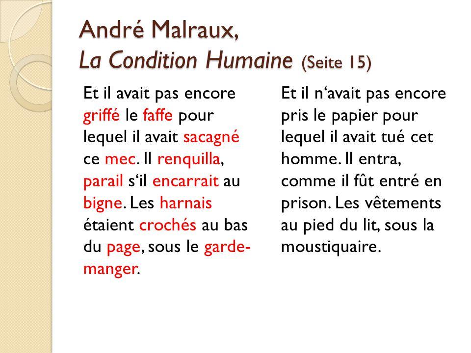 André Malraux, La Condition Humaine (Seite 15)