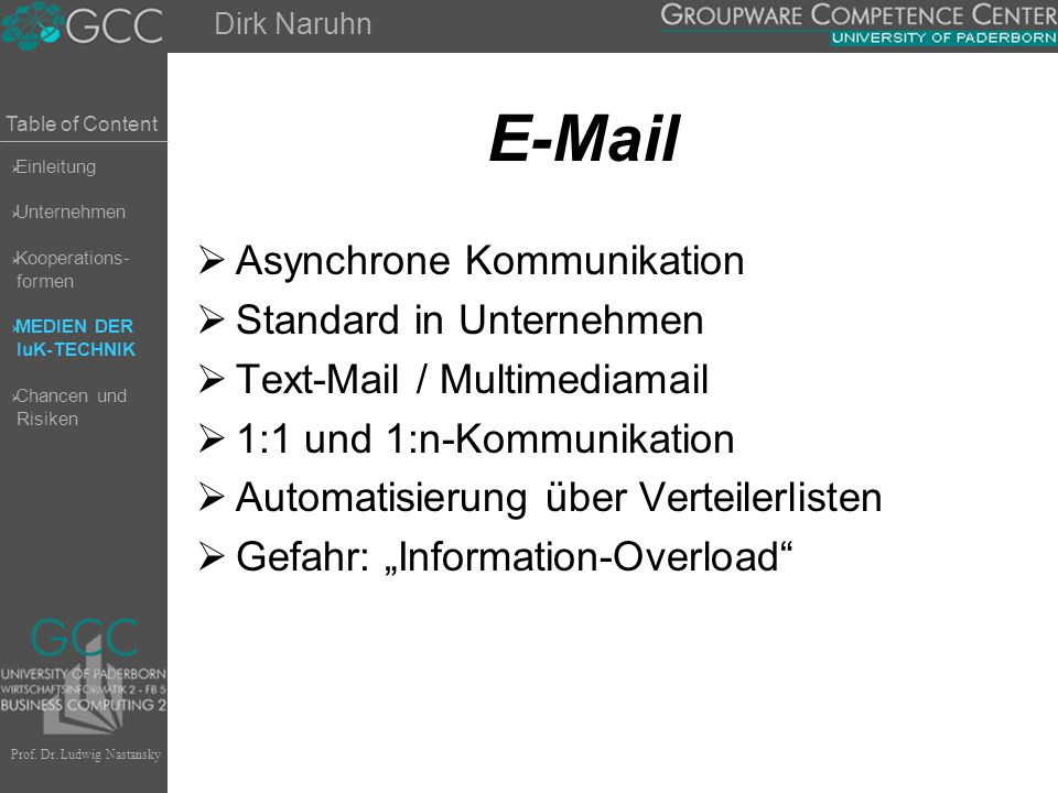 E-Mail Asynchrone Kommunikation Standard in Unternehmen