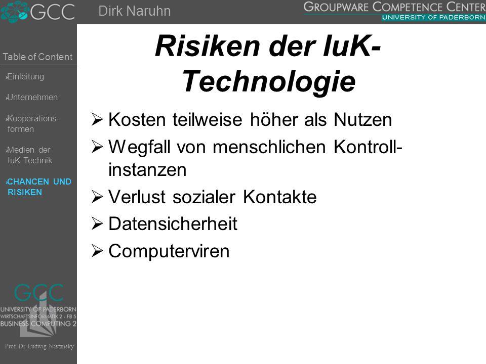 Risiken der IuK-Technologie