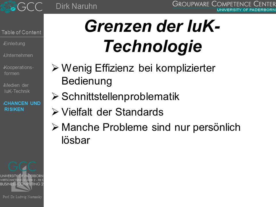 Grenzen der IuK-Technologie