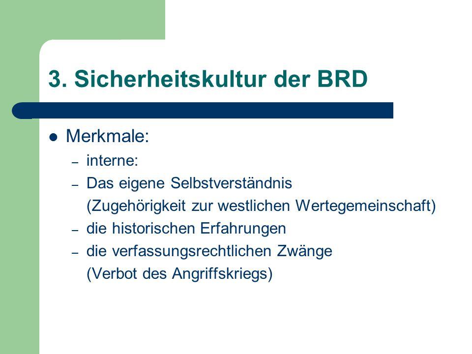 3. Sicherheitskultur der BRD