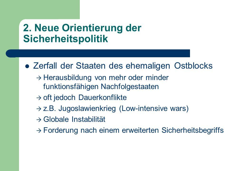 2. Neue Orientierung der Sicherheitspolitik