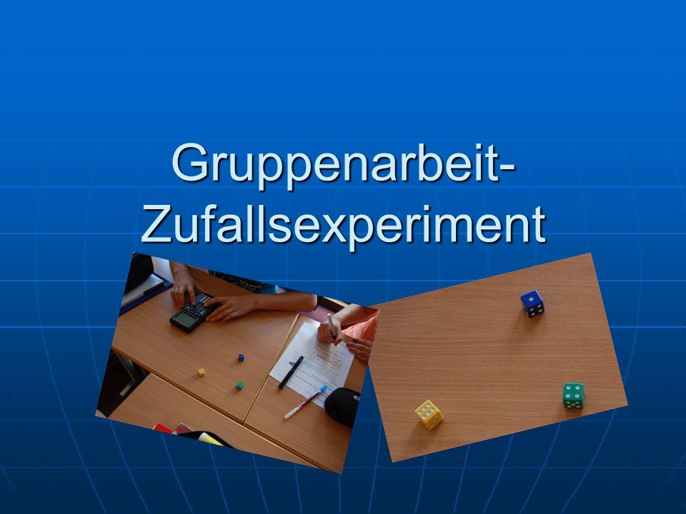 Gruppenarbeit-Zufallsexperiment