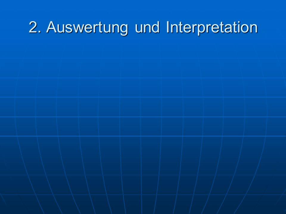 2. Auswertung und Interpretation