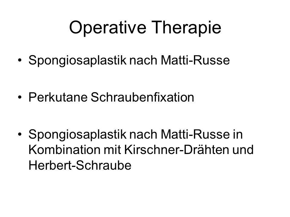 Operative Therapie Spongiosaplastik nach Matti-Russe