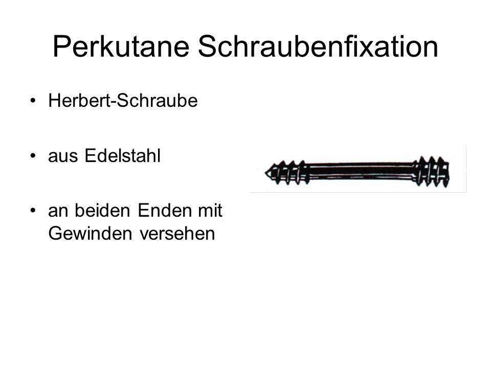 Perkutane Schraubenfixation