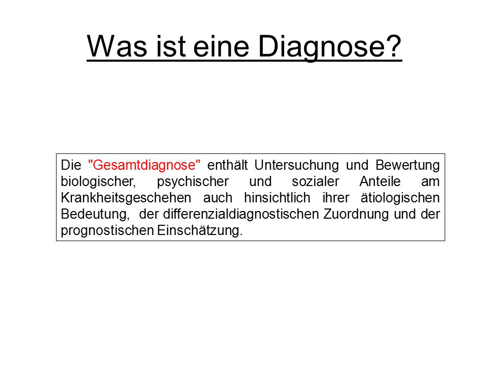 Was ist eine Diagnose