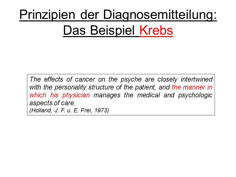Prinzipien der Diagnosemitteilung: Das Beispiel Krebs
