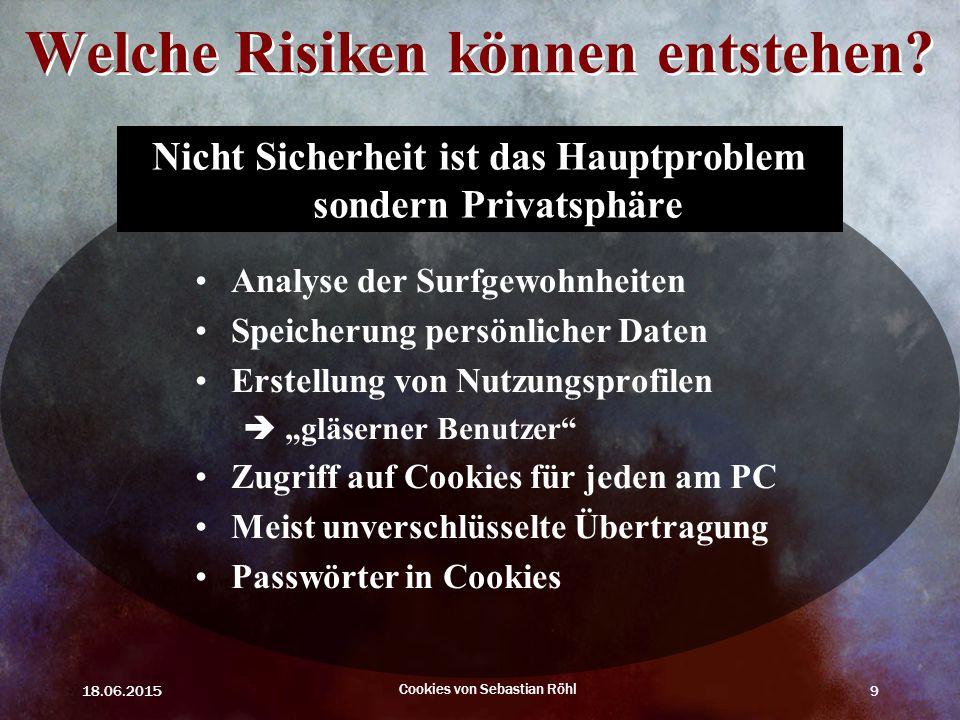 Welche Risiken können entstehen