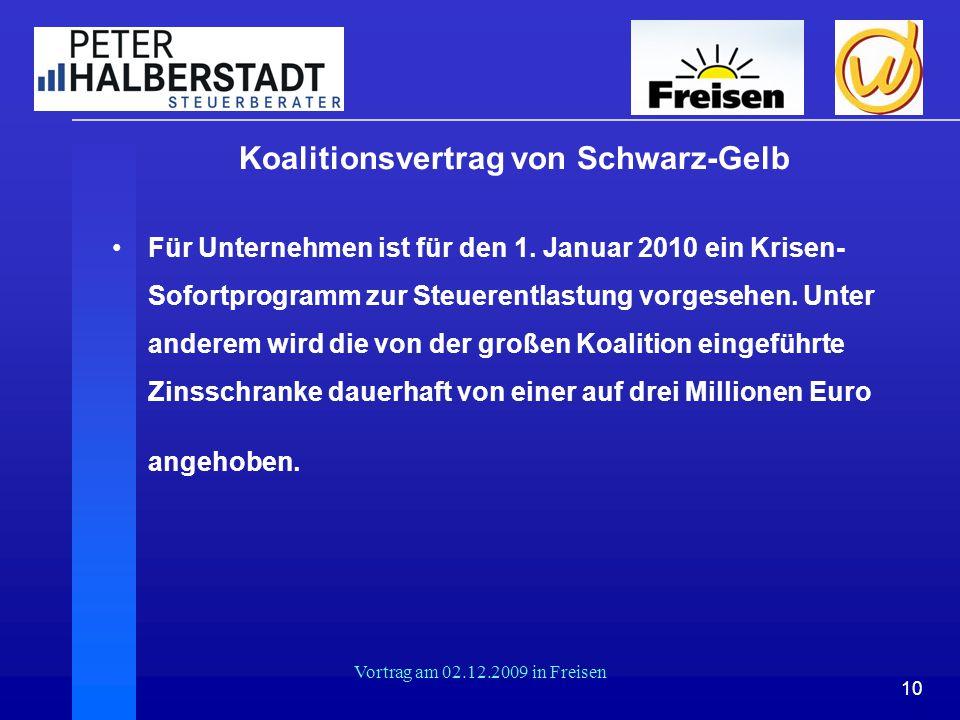 Koalitionsvertrag von Schwarz-Gelb