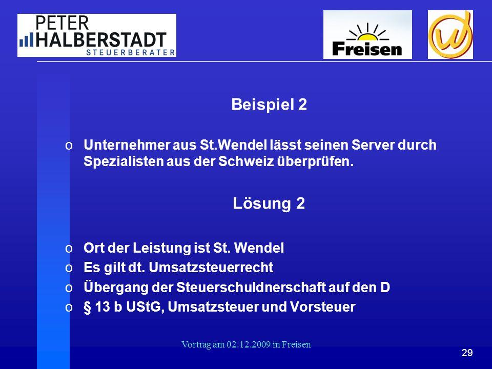 Beispiel 2 Unternehmer aus St.Wendel lässt seinen Server durch Spezialisten aus der Schweiz überprüfen.