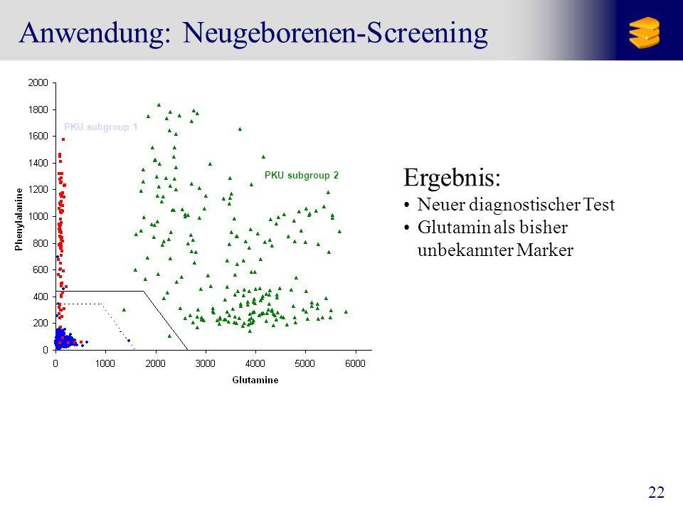 Anwendung: Neugeborenen-Screening