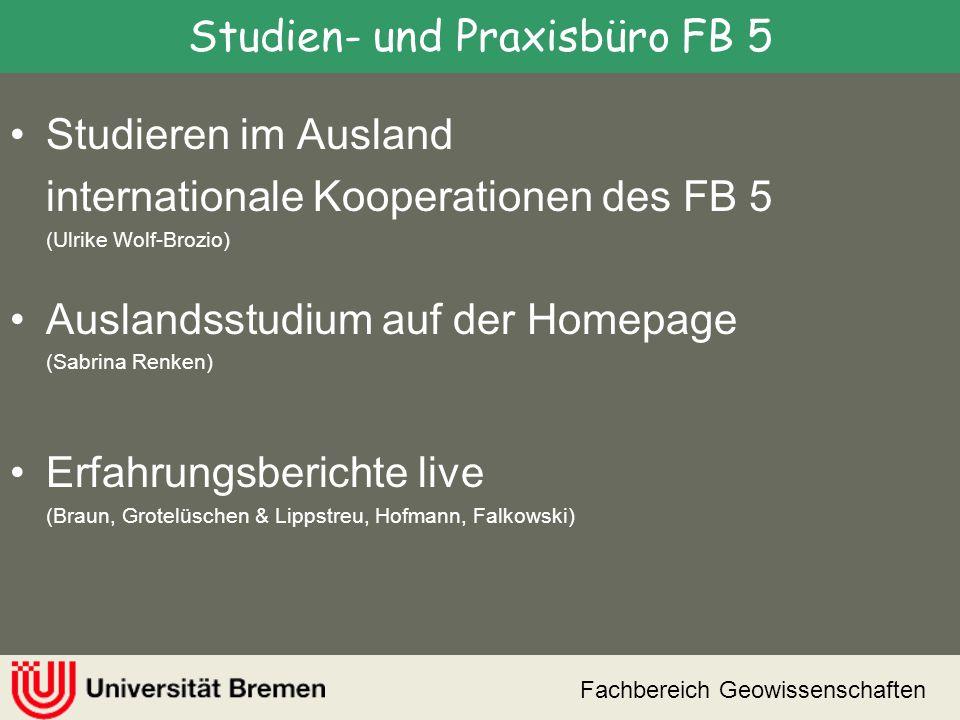 Studien- und Praxisbüro FB 5