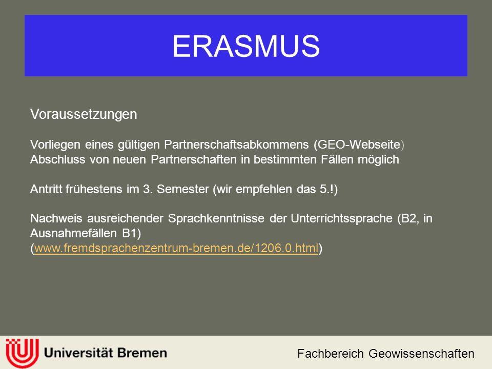 ERASMUS Voraussetzungen