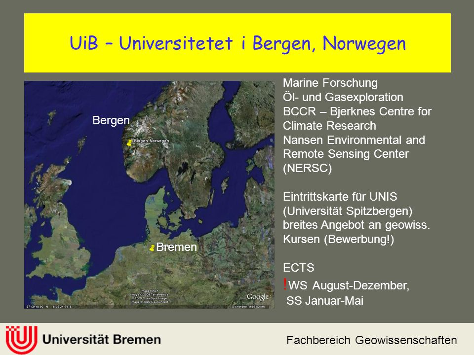 UiB – Universitetet i Bergen, Norwegen