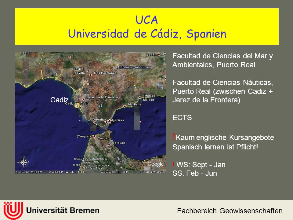 UCA Universidad de Cádiz, Spanien