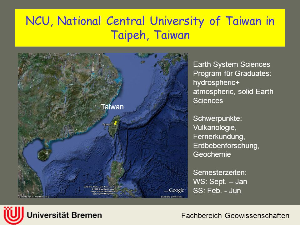 NCU, National Central University of Taiwan in Taipeh, Taiwan
