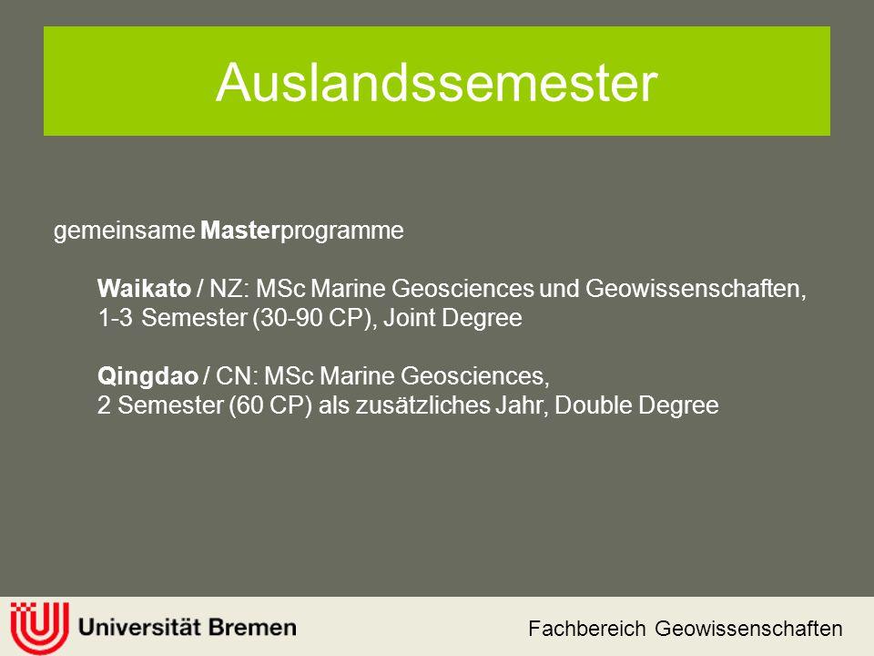 Auslandssemester gemeinsame Masterprogramme