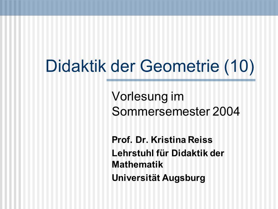 Didaktik der Geometrie (10)