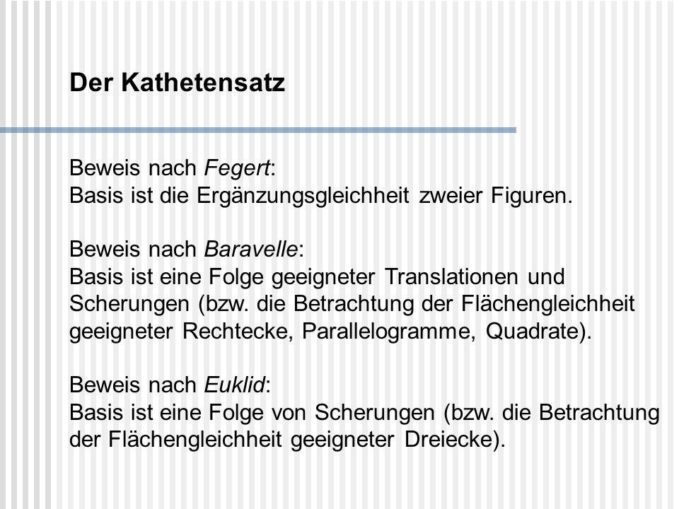 Der Kathetensatz Beweis nach Fegert: