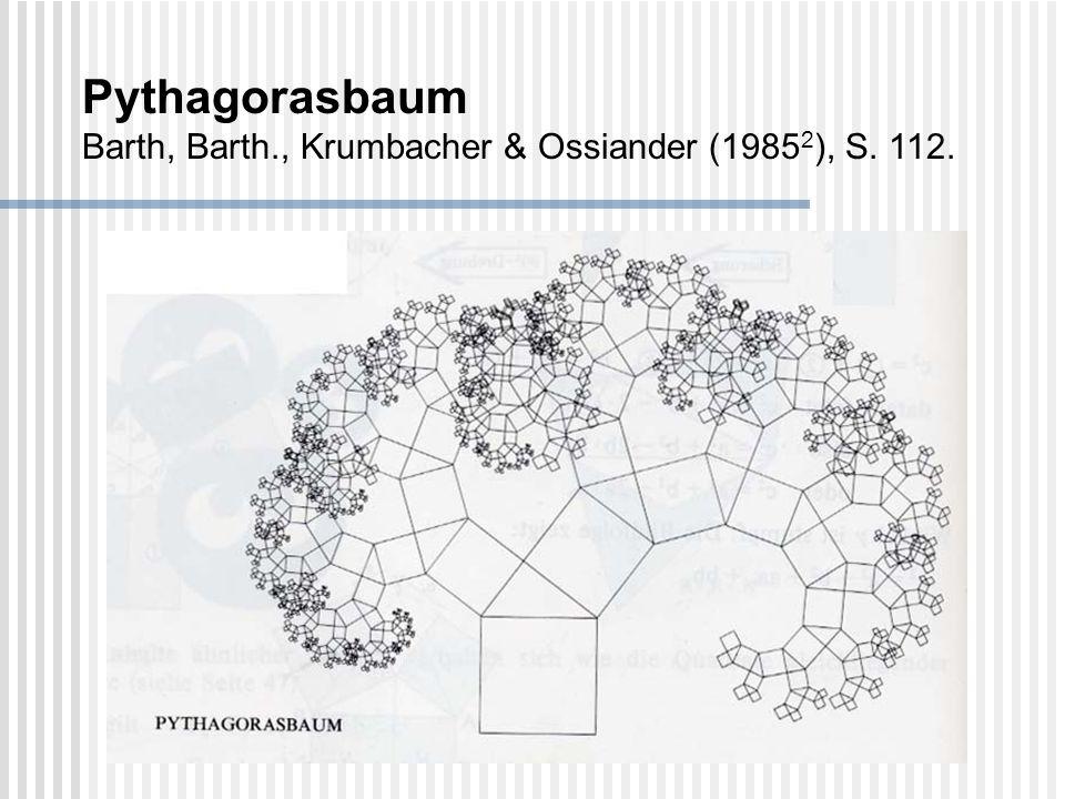 Pythagorasbaum Barth, Barth., Krumbacher & Ossiander (19852), S. 112.
