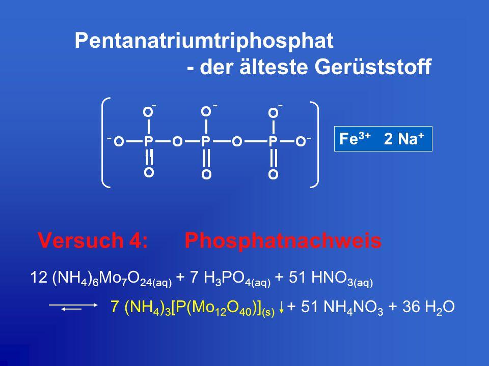 Versuch 4: Phosphatnachweis