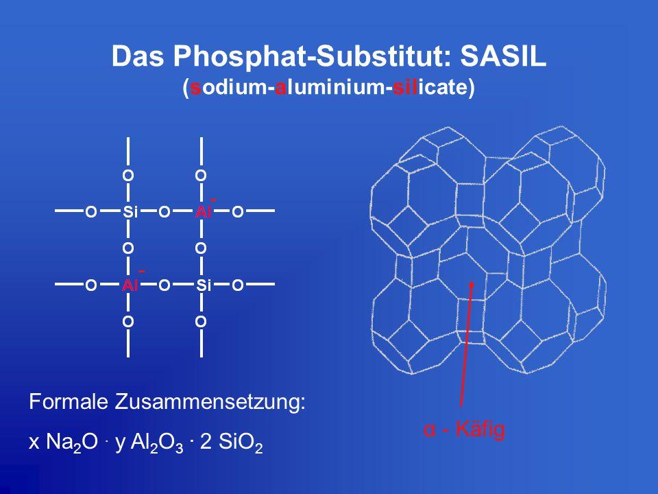Das Phosphat-Substitut: SASIL (sodium-aluminium-silicate)