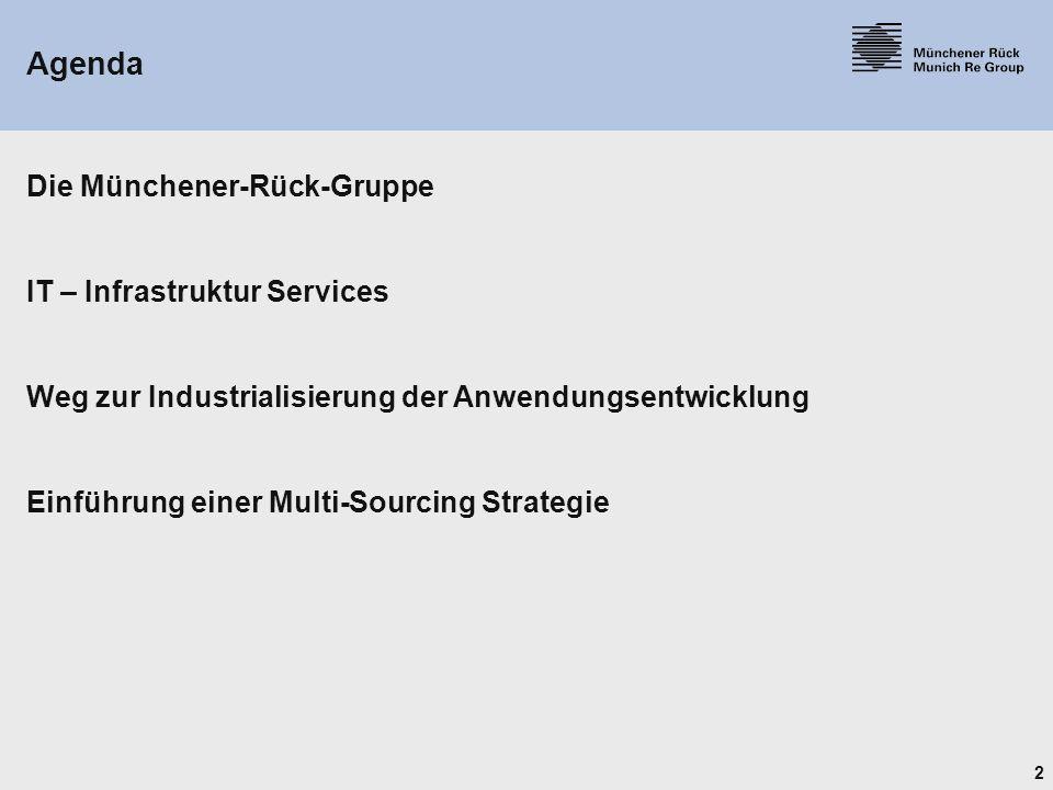 Agenda Die Münchener-Rück-Gruppe IT – Infrastruktur Services