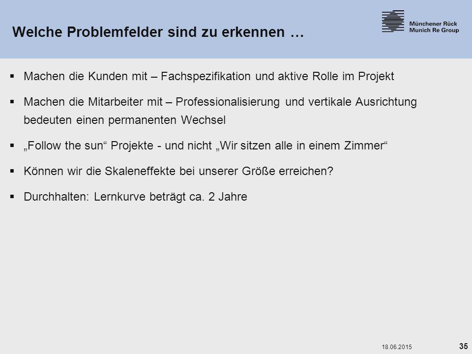 Welche Problemfelder sind zu erkennen …
