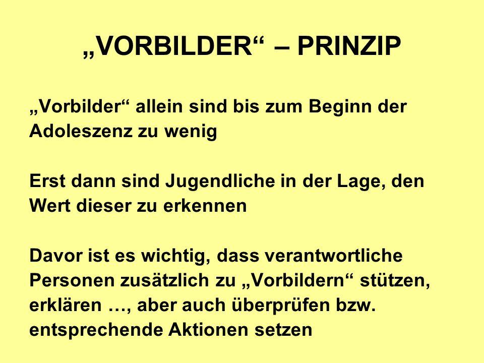 """""""VORBILDER – PRINZIP """"Vorbilder allein sind bis zum Beginn der"""