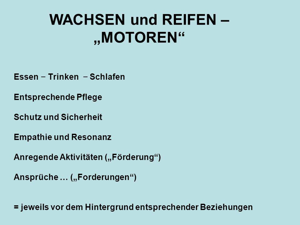 """WACHSEN und REIFEN – """"MOTOREN"""