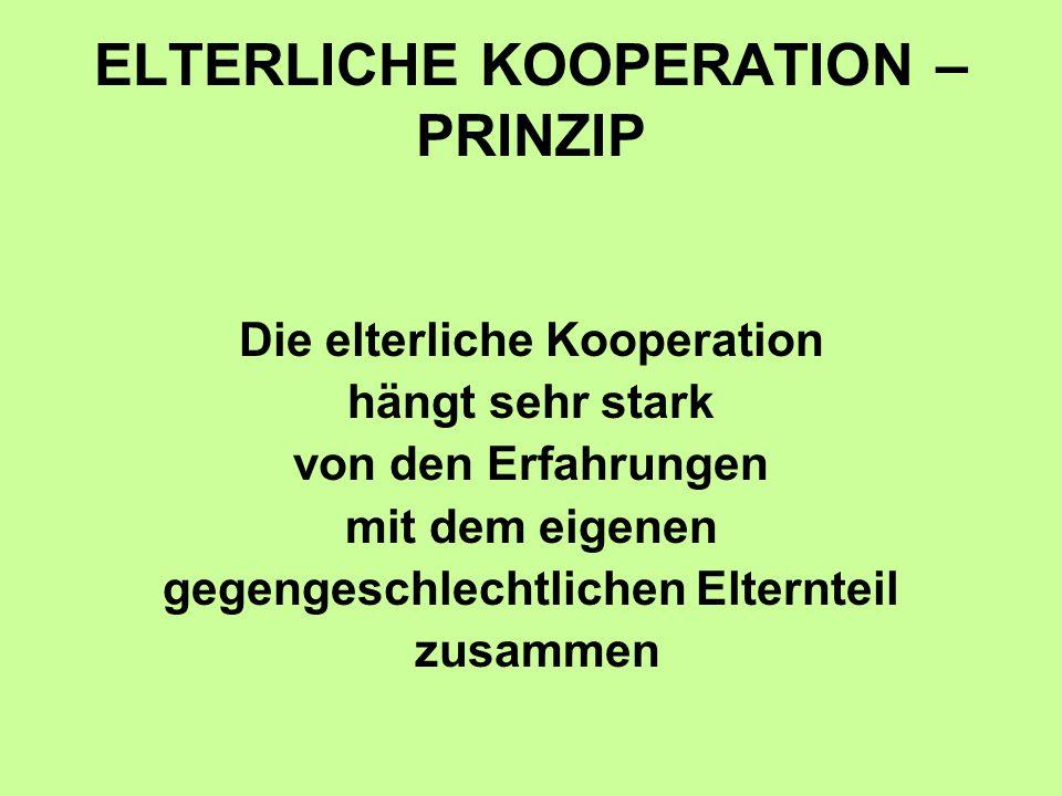 ELTERLICHE KOOPERATION – PRINZIP