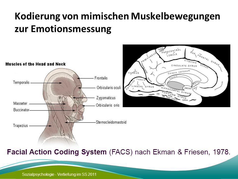 Kodierung von mimischen Muskelbewegungen zur Emotionsmessung
