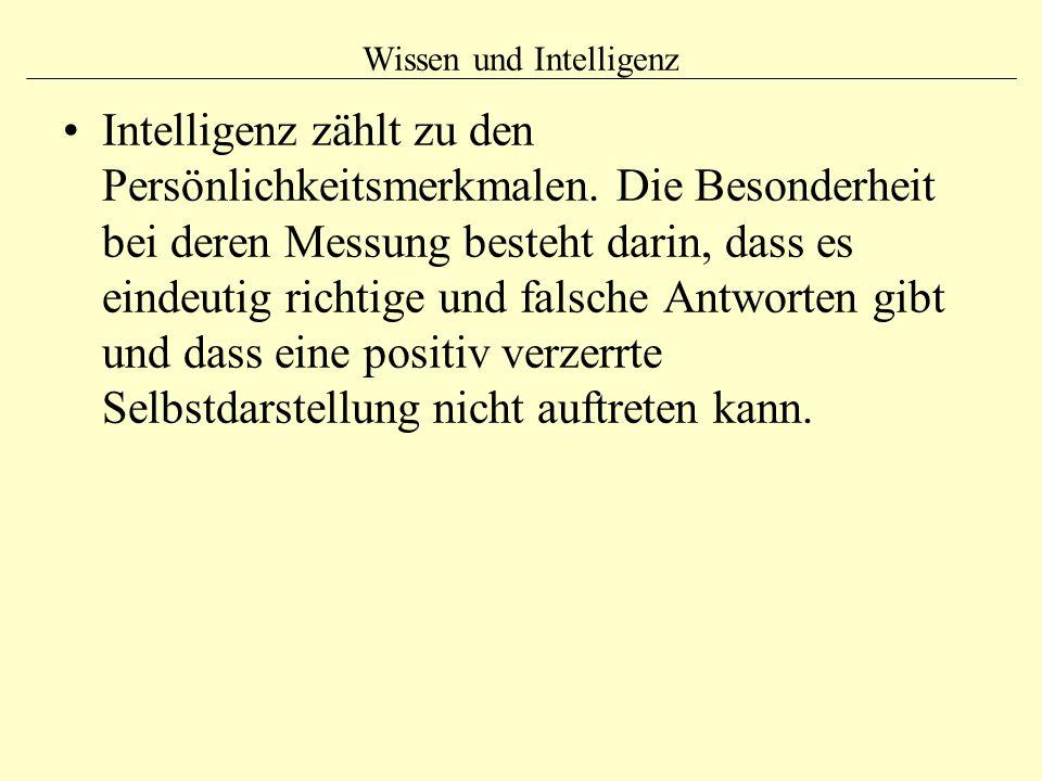 Wissen und Intelligenz