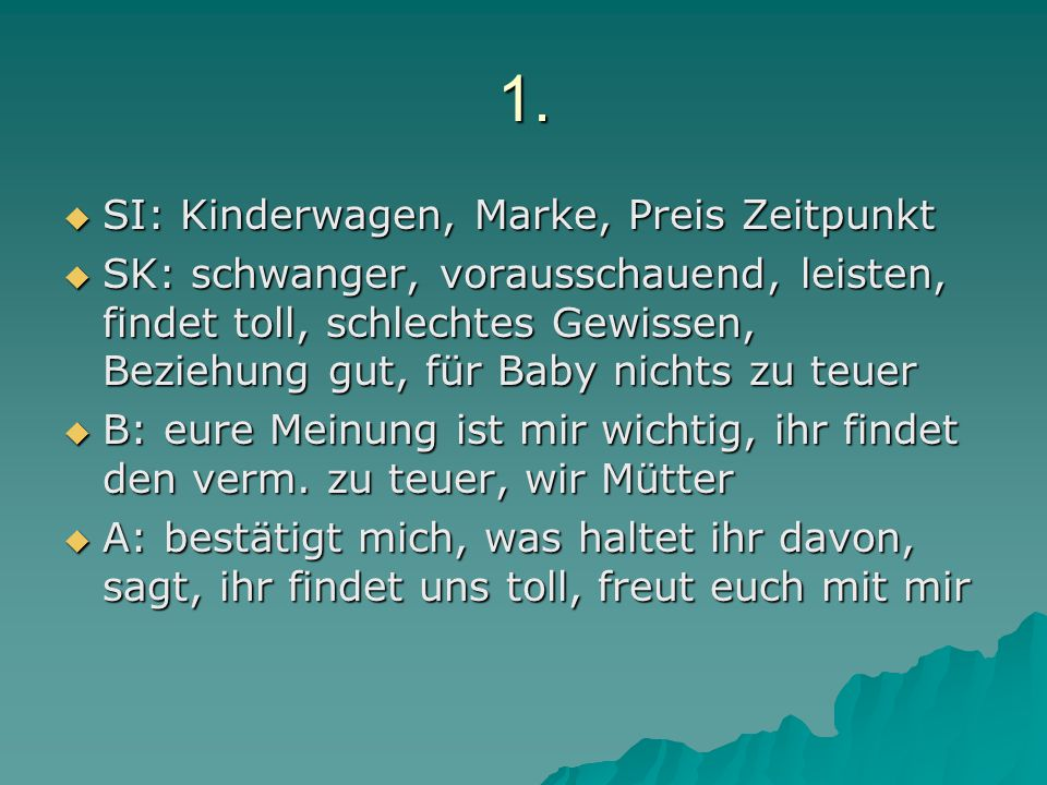 1. SI: Kinderwagen, Marke, Preis Zeitpunkt