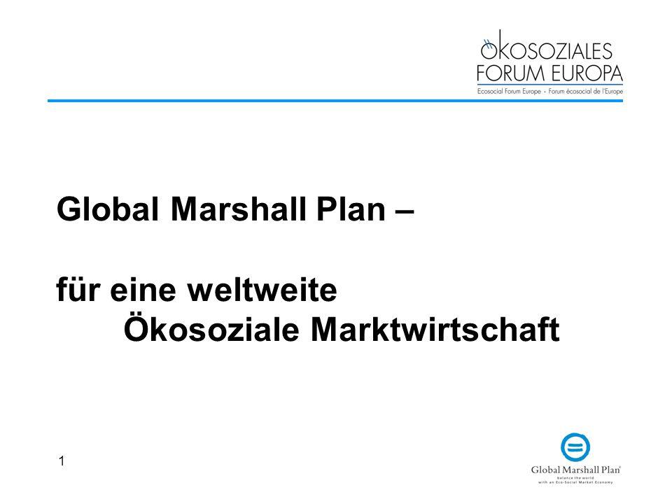 Global Marshall Plan – für eine weltweite Ökosoziale Marktwirtschaft