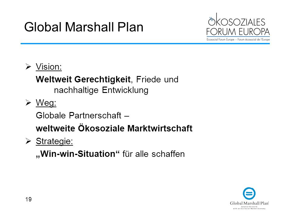 Global Marshall Plan Vision: