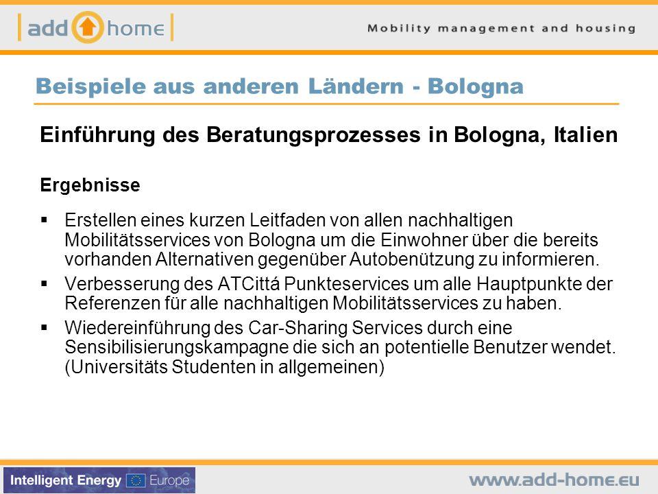 Beispiele aus anderen Ländern - Bologna