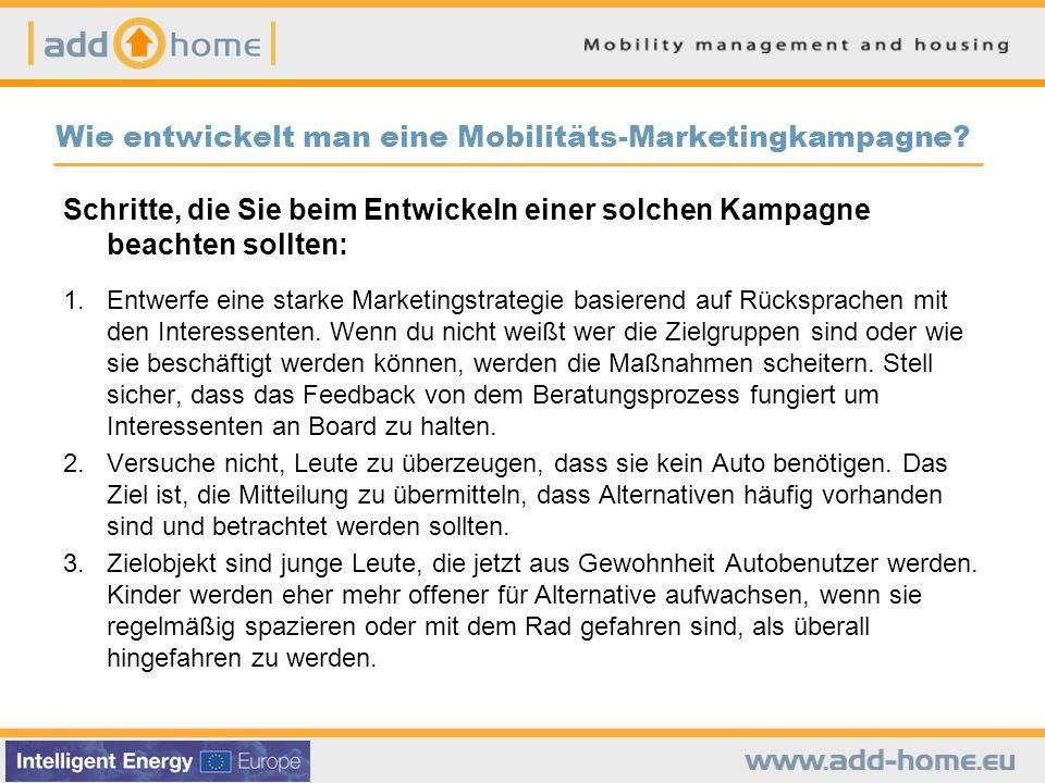 Wie entwickelt man eine Mobilitäts-Marketingkampagne