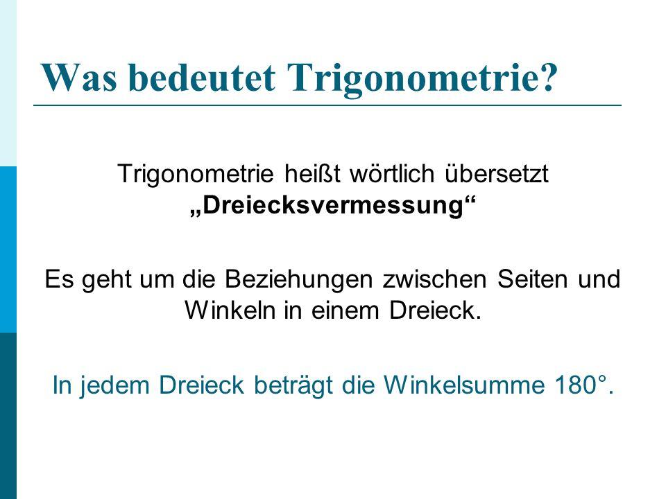 Was bedeutet Trigonometrie
